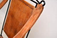 Wrought Iron & Leather Rocking Chair (6 of 12)