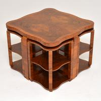 1920s Art Deco Walnut Nesting Coffee Table