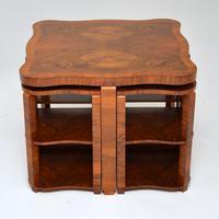 1920s Art Deco Walnut Nesting Coffee Table (9 of 10)