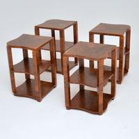 1920s Art Deco Walnut Nesting Coffee Table (6 of 10)