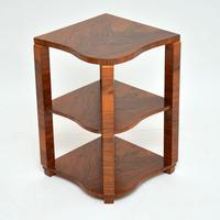 1920s Art Deco Walnut Nesting Coffee Table (4 of 10)