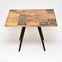 1960s Italian Lacquered Parchment Coffee Table by Aldo Tura (3 of 11)