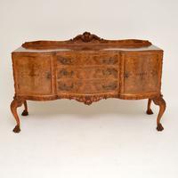 Antique Queen Anne Burr Walnut Sideboard (3 of 15)