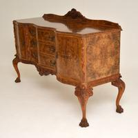 Antique Queen Anne Burr Walnut Sideboard (4 of 15)