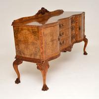 Antique Queen Anne Burr Walnut Sideboard (7 of 15)