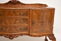 Antique Queen Anne Burr Walnut Sideboard (9 of 15)