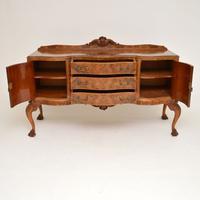 Antique Queen Anne Burr Walnut Sideboard (10 of 15)