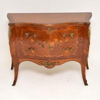 French Inlaid Marquetry Bombe Chest c.1930 (2 of 11)