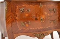 French Inlaid Marquetry Bombe Chest c.1930 (6 of 11)