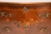 French Inlaid Marquetry Bombe Chest c.1930 (7 of 11)