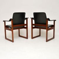 Pair of Vintage Danish Rosewood & Leather Armchairs (9 of 12)