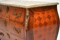 French Marble Top Bombe Chest c.1930 (10 of 10)