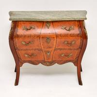 French Marble Top Bombe Chest c.1930 (2 of 10)