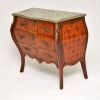 French Marble Top Bombe Chest c.1930 (3 of 10)
