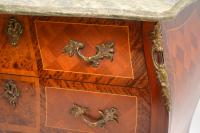 French Marble Top Bombe Chest c.1930 (5 of 10)
