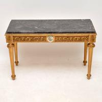 French Marble Top Gilt Coffee Table (2 of 11)