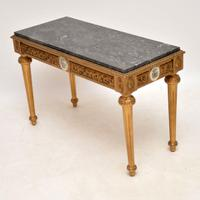 French Marble Top Gilt Coffee Table (6 of 11)