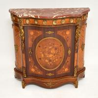 French Inlaid Marquetry Marble Top Cabinet (2 of 12)