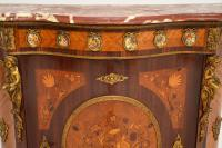 French Inlaid Marquetry Marble Top Cabinet (3 of 12)