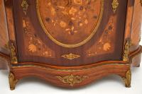 French Inlaid Marquetry Marble Top Cabinet (6 of 12)