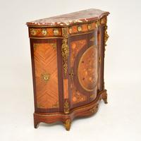 French Inlaid Marquetry Marble Top Cabinet (9 of 12)