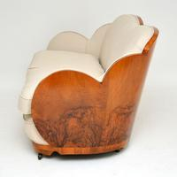 Art Deco Walnut Cloud Back Sofa by Epstein (12 of 12)