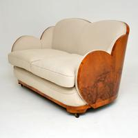 Art Deco Walnut Cloud Back Sofa by Epstein (3 of 12)