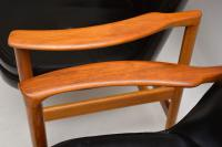 1960s Pair of Leather & Walnut Armchairs by IB Kofod Larsen (4 of 12)