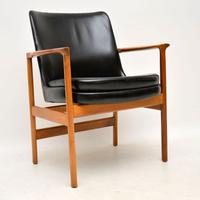 1960s Pair of Leather & Walnut Armchairs by IB Kofod Larsen (7 of 12)