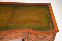 Burr Walnut Leather Top Desk c.1930 (6 of 10)