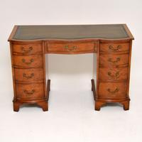 Burr Walnut Leather Top Desk c.1930 (7 of 10)