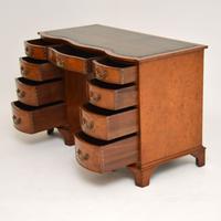 Burr Walnut Leather Top Desk c.1930 (2 of 10)