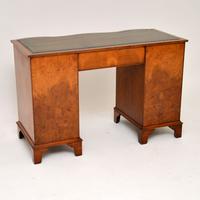 Burr Walnut Leather Top Desk c.1930 (4 of 10)