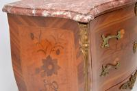 Antique French Inlaid Marquetry Marble Top Bombe Chest (10 of 12)