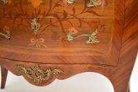 Antique French Inlaid Marquetry Marble Top Bombe Chest (7 of 12)