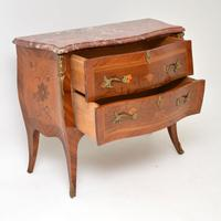 Antique French Inlaid Marquetry Marble Top Bombe Chest (8 of 12)