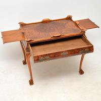 Antique Burr Walnut Tray Top Side Table (12 of 12)