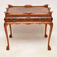 Antique Burr Walnut Tray Top Side Table (2 of 12)
