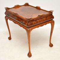 Antique Burr Walnut Tray Top Side Table (5 of 12)