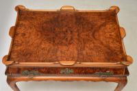 Antique Burr Walnut Tray Top Side Table (7 of 12)