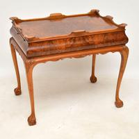 Antique Burr Walnut Tray Top Side Table (8 of 12)