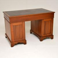 Antique Victorian Walnut Leather Top Desk (12 of 12)