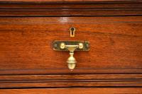 Antique Victorian Walnut Leather Top Desk (6 of 12)