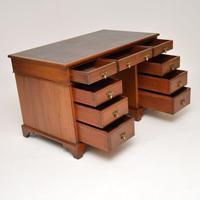 Antique Victorian Walnut Leather Top Desk (7 of 12)