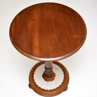 Antique William IV Mahogany & Marble Side Table (6 of 7)