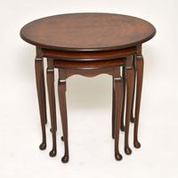 Antique Burr Walnut Nest of Tables (4 of 6)