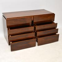 1970s Vintage Walnut & Chrome Dressing Table & Chests (4 of 15)