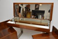 1970s Vintage Walnut & Chrome Dressing Table & Chests (5 of 15)