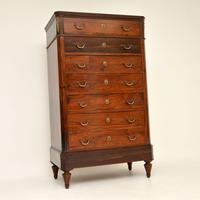 Antique Rosewood Biedermeier Secretaire Chest of Drawers (2 of 13)