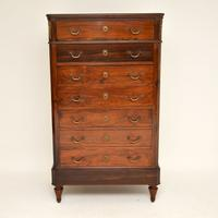 Antique Rosewood Biedermeier Secretaire Chest of Drawers (3 of 13)
